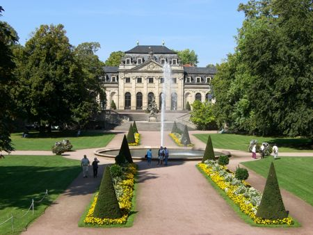 Orangeriet i slotshaven i Fulda