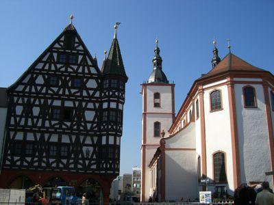 En af de mange kirker i Fulda