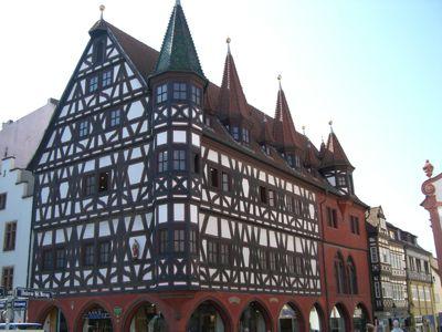Flot bindingsværkshus i Fulda