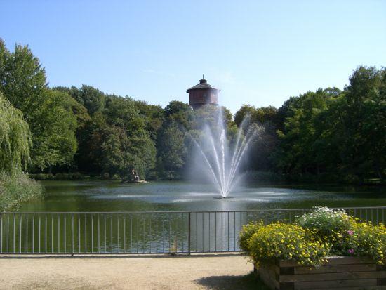 Springvand i parken ved Park Hotel