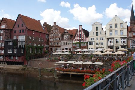 Stemning ved kanalen i Lüneburg