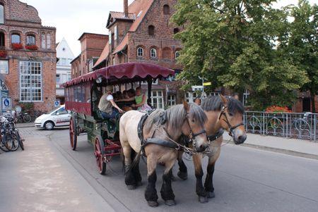 Hestevognen kører i Lüneburg