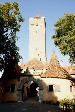Burgtor i Rothenburg