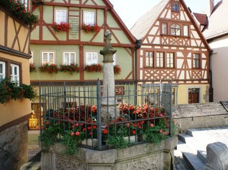 Fontaine i Rothenburg ob der Tauber