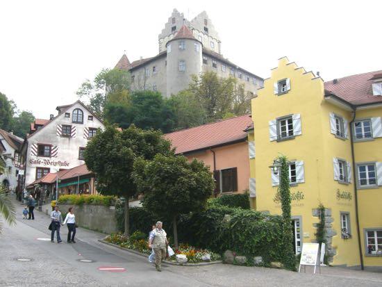Kik til borgen i Meersburg