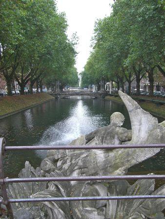 Billed af Triton springvandet på Königsallee