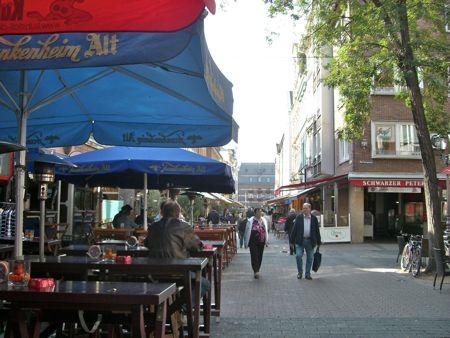 Bar gaden i Düsseldorf
