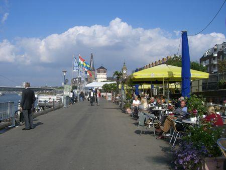 Billede af Promenaden langs Rhinen i Düsseldorf