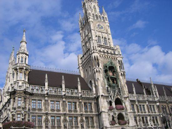München rådhus i Tyskland