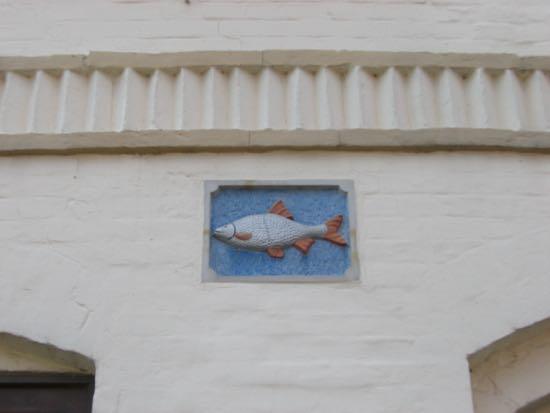Et af husmærkerne i Friderichstadt