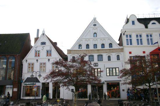 Byen Husum i Tyskland