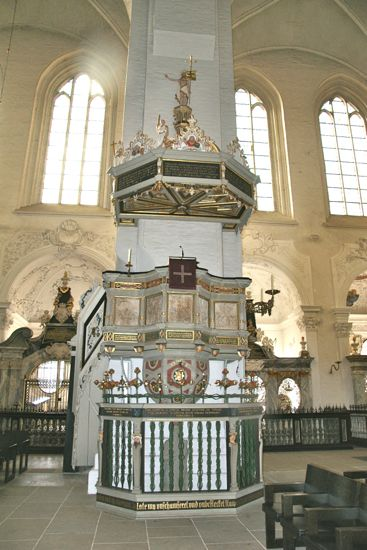 Prædikestolen i Domkirken i Lübeck