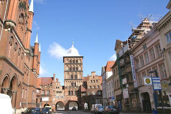 Byporten Burgtor i Lübeck