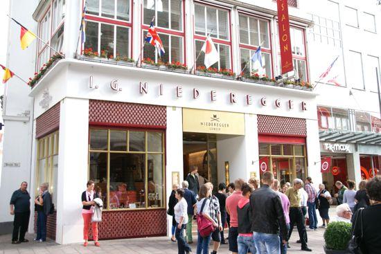 Marcipan butikken Niederegger i Lübeck