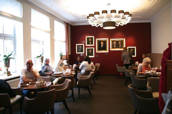 Cafeen i Niederegger i Lübeck