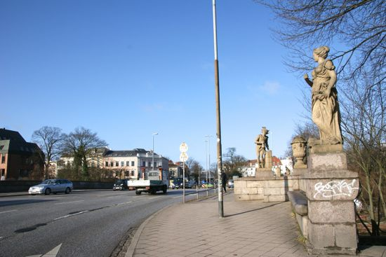 Broen Puppenbrücke i Lübeck