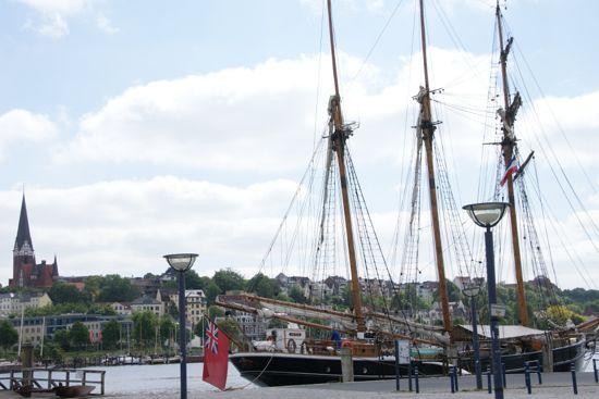 Flensborg havn i Tyskland