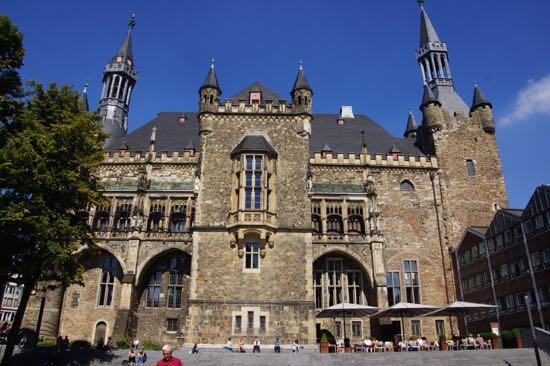 Bagsiden af Rådhuset i Aachen