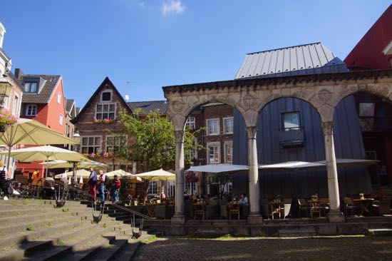 Hof plads i Aachen