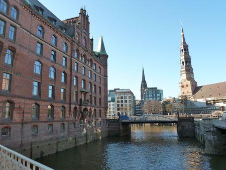 Speicherstadt i Hamburg