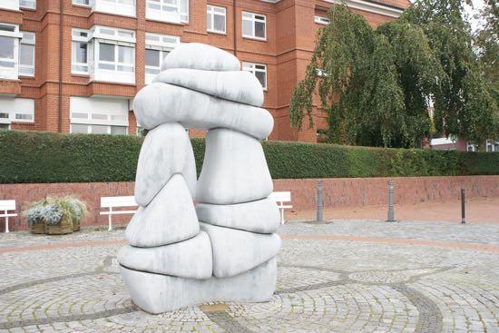 Skulptur på søpromenaden i Bad Malente