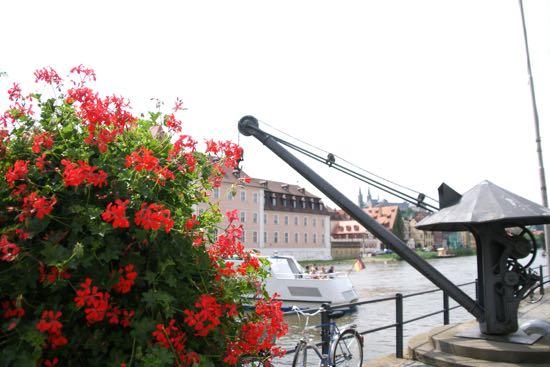 Gammel kran i Bamberg
