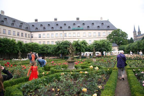 Den barokke rosenhave i Bamberg