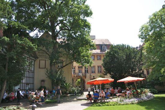 Hyggelig udensdørs restaurant i Heidelberg