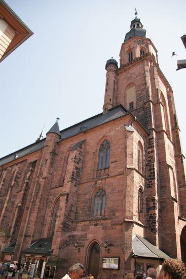 Sengotiske Heiliggerstkirche i Heidelberg