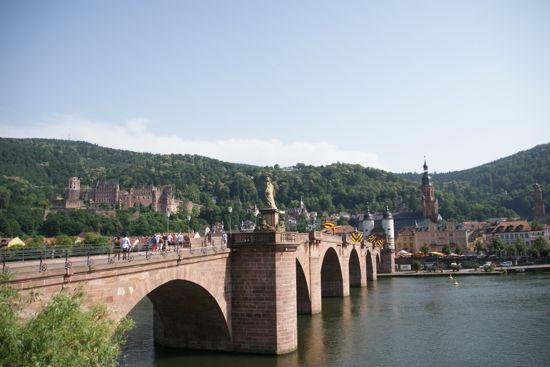 Broen Alte Brücke i Heidelberg
