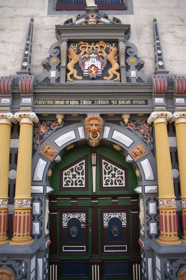 Indgangspartiet til Hann.Mündens rådhus
