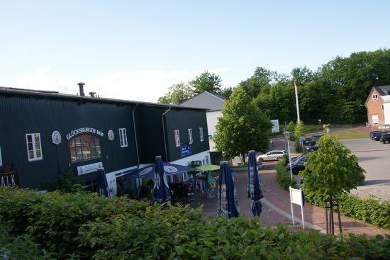 Byen Glücksburg i Schleswig-Holsten
