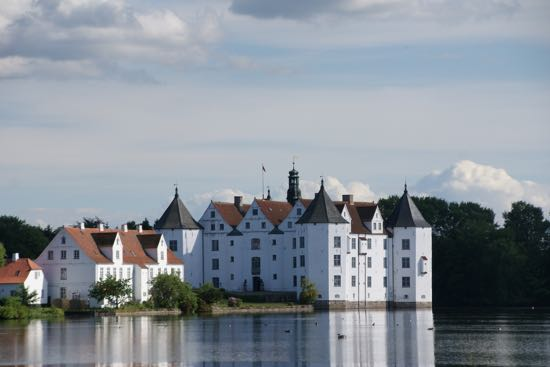Glücksburg slot i Tyskland