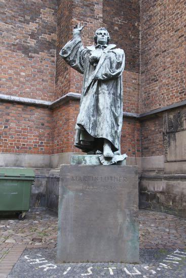 Skulptur af Martin Luther