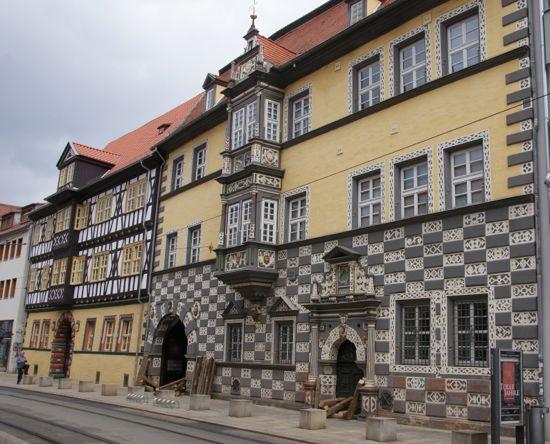 By museet i Erfurt