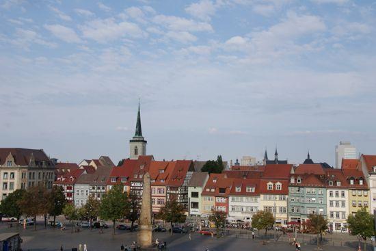 Byen Erfurt i Tyskland