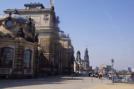 Brühl Terrasse i Dresden